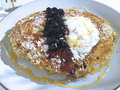 Lemon poppy seed pancakes at Pollen